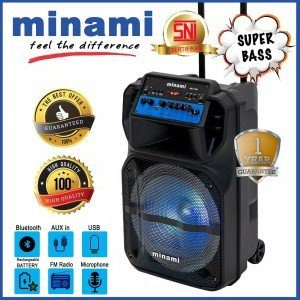Harga minami party box 200 speaker active mst 1260 wireless mic bluetooth | HARGALOKA.COM