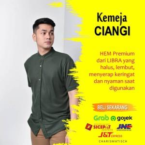Harga libra kemeja pria ciangi hem lengan pendek   green | HARGALOKA.COM