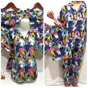 Harga baju tidur piyama pajamas wanita dewasa 3in1 daun fanta harga grosir   fanta | HARGALOKA.COM