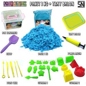Harga mainan pasir kinetik paket 1 kg tray balon pasir ajaib   | HARGALOKA.COM