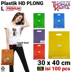 Harga kantong plastik hd plong 30x40cm shopping bag online shop pilih warna     HARGALOKA.COM