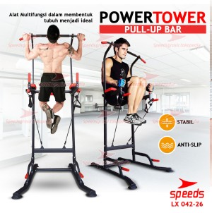 Harga power tower pull up bar chin up hanging bar fitness gym speeds 042 26   | HARGALOKA.COM