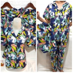 Harga baju tidur piyama pajamas wanita dewasa 3in1 daun cantik harga grosir   hijau | HARGALOKA.COM