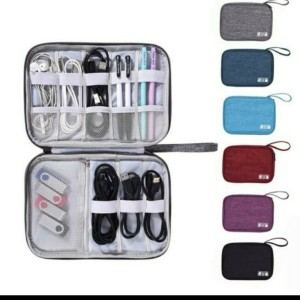 Harga travel pouch organizer cable | HARGALOKA.COM