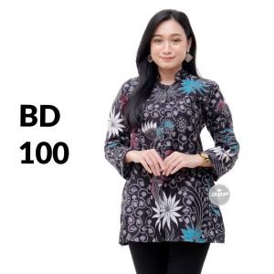Harga atasan batik seragam batik solo batik kantor baju batik wanita bd 100   | HARGALOKA.COM
