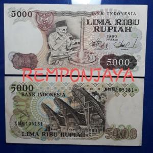 Katalog Uang Kuno 5000 Rupiah Asah Intan 1980 Xf Vf Bagus Katalog.or.id