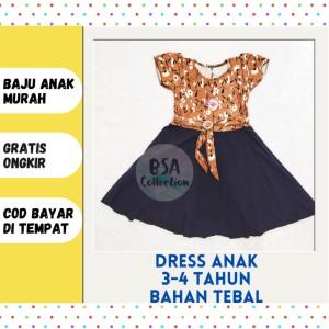 Harga pakaian baju dress dres rok anak perempuan cewek dress murah valen | HARGALOKA.COM