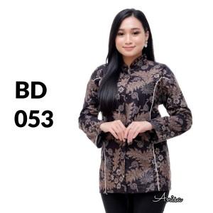 Harga atasan batik seragam batik solo batik kantor baju batik wanita bd 053   | HARGALOKA.COM