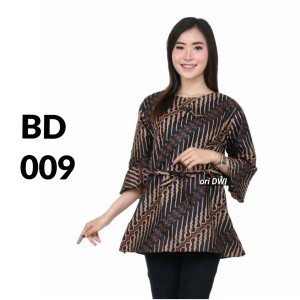 Harga atasan batik seragam batik solo batik baju batik wanita bd 009   | HARGALOKA.COM