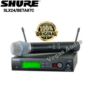 Harga shure slx24 beta87c wireles microphone single handhel | HARGALOKA.COM
