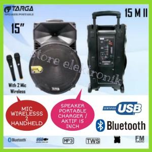 Harga speaker portable wireless targa 15 m aktif 15 inch bluetooth usb | HARGALOKA.COM