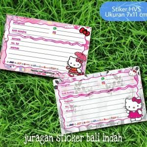 Harga stiker pengiriman online shop hello kitty   | HARGALOKA.COM