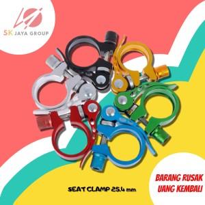 Harga komponen aksesories sepeda seat clamp sepeda 25 4 mm seatpost clamp 25   | HARGALOKA.COM