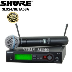 Harga shure slx24 beta58 wireles microphone single handhel | HARGALOKA.COM