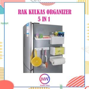 Harga kulkas organizer rak magnet multifungsi 5in1 | HARGALOKA.COM