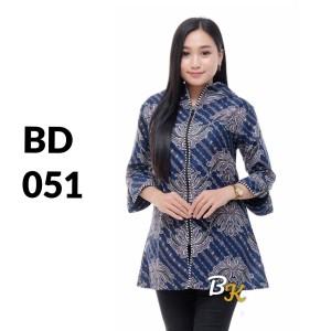 Harga atasan batik batik solo batik kantor baju batik wanita bd 051   | HARGALOKA.COM