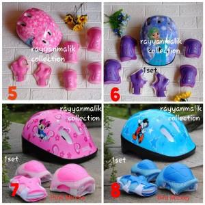 Harga helm sepeda anak sepatu roda deker pelindung siku dan lutut   mikey mouse | HARGALOKA.COM