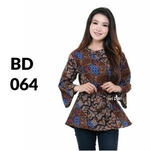 Harga atasan batik seragam batik solo batik kantor baju batik wanita bd 064   | HARGALOKA.COM