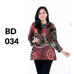 Harga atasan batik seragam batik solo batik baju batik wanita bd 034   | HARGALOKA.COM