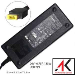 Harga adaptor charger lenovo y40 y50 y50 70 y700 y70 20v  6 75a usb | HARGALOKA.COM