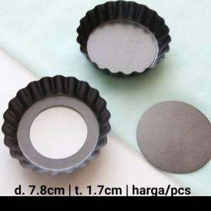 Harga loyang pie roti kering teflon cetakan mini dimensi 7 8cm t 1 | HARGALOKA.COM