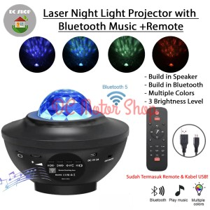 Harga light projector laser night water star effect bluetooth music | HARGALOKA.COM