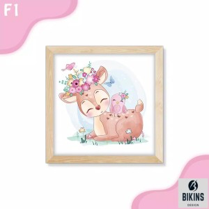 Harga bikins hiasan dinding dekorasi kamar lukisan hewan lucu shabby termura   | HARGALOKA.COM