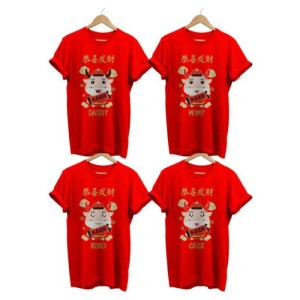 Harga tshirt baju kaos imlek 2021 kerbau tulisan cina   free nama   HARGALOKA.COM