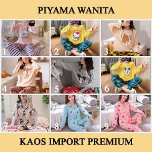 Harga baju tidur wanita bahan kaos import lengan panjang celana panjang pp   HARGALOKA.COM