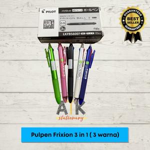 Harga pulpen pilot frixion clicker 3 in 1 pulpen 3 warna atk   | HARGALOKA.COM