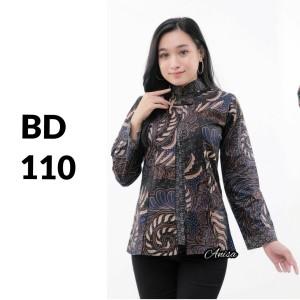 Harga blus blouse atasan batik modern wanita baju kemeja wanita batik bd 110   | HARGALOKA.COM