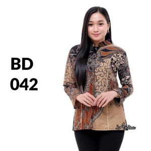 Harga atasan batik seragam batik solo batik kantor baju batik wanita bd 042   | HARGALOKA.COM