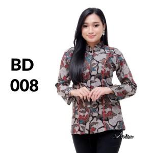 Harga atasan batik seragam batik solo batik baju batik wanita bd 008   | HARGALOKA.COM