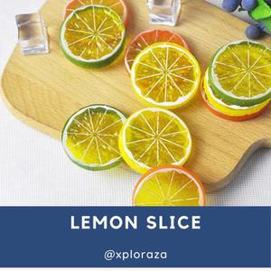 Harga lemon slice artificial potongan lemon imitasi palsu properti foto   | HARGALOKA.COM