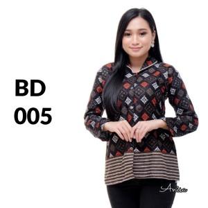 Harga atasan batik seragam batik solo batik baju batik wanita bd 005   | HARGALOKA.COM