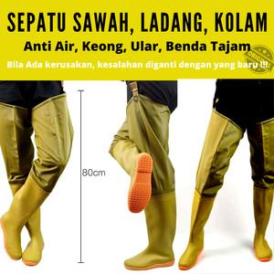 Info Sepatu Allbike Ap Boots Sepatu Karet Anti Air Hitam Merah Sepeda Motor Katalog.or.id