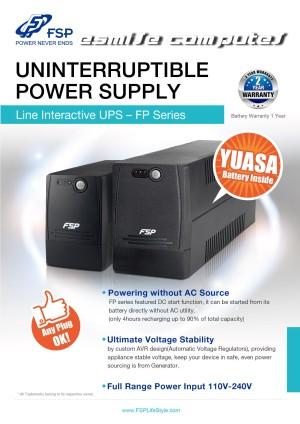 Harga ups 600va fsp fp600   fsp ups komputer amp | HARGALOKA.COM