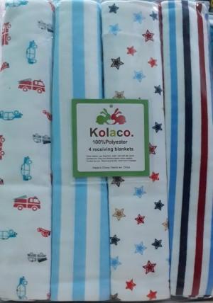 Harga bedong carter bedong bayi 1pack isi 4pcs   blue small | HARGALOKA.COM