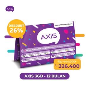 Harga kartu perdana paket axis 24 jam 3gb 30 hari 12 bulan | HARGALOKA.COM