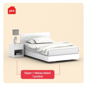 Harga bavarian   granada bd120 gl divan tempat tidur set nakas putih | HARGALOKA.COM