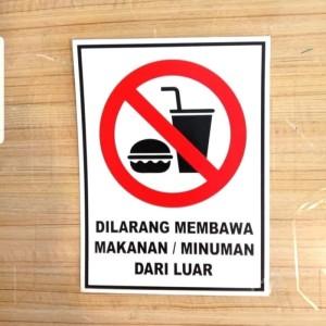 Harga sign akrilik dilarang membawa makanan amp minuman dari luar uk | HARGALOKA.COM