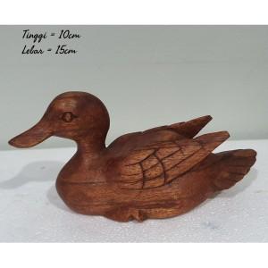 Harga patung kayu bebek hewan kayu hiasan pajangan | HARGALOKA.COM