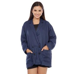Harga cottonology blazer wanita selly hitam biru   HARGALOKA.COM