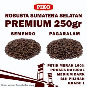 Harga kopi robusta sumatera selatan premium 0 25 kg roasted biji kopi bubuk   pagar alam biji   HARGALOKA.COM