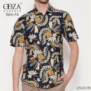 Harga kemeja batik solo lengan pendek slimfit baju batik model formal casual   | HARGALOKA.COM