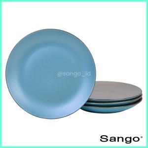 Harga sango set piring makan pearl chic turquoise isi 4   HARGALOKA.COM