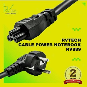 Harga kabel power notebook 2m rvtech garansi 2 | HARGALOKA.COM