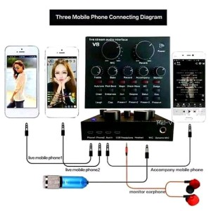 Harga sound card v8 mixer usb live streaming soundcard | HARGALOKA.COM