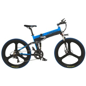 Harga termurah lankeleisi sepeda elektrik lipat elite version   xt750   hitam | HARGALOKA.COM