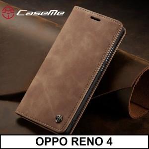 Harga casing oppo reno 4 caseme pu leather wallet flipcase cover flip case   | HARGALOKA.COM